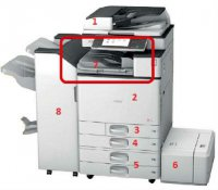 Финишер Внутренний  Ricoh тип SR3130 для MP C3003/C3503/C4503/C5503 Internal Finisher SR3130
