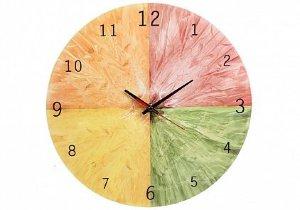 Часы настенные Pomidoro Часы настенные Pomidoro Т3320-К часы круглые Цитрус, без мелодий, d=33 см