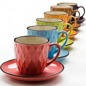 Чайный сервиз 220 мл на подставке 13 предметов Loraine